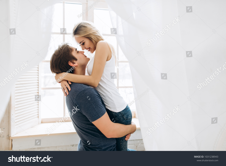 Sweet couple has fun