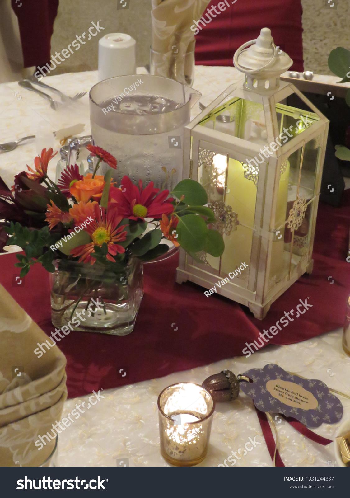 Wedding Reception Seating Arrangement Decorations Stock Photo Edit