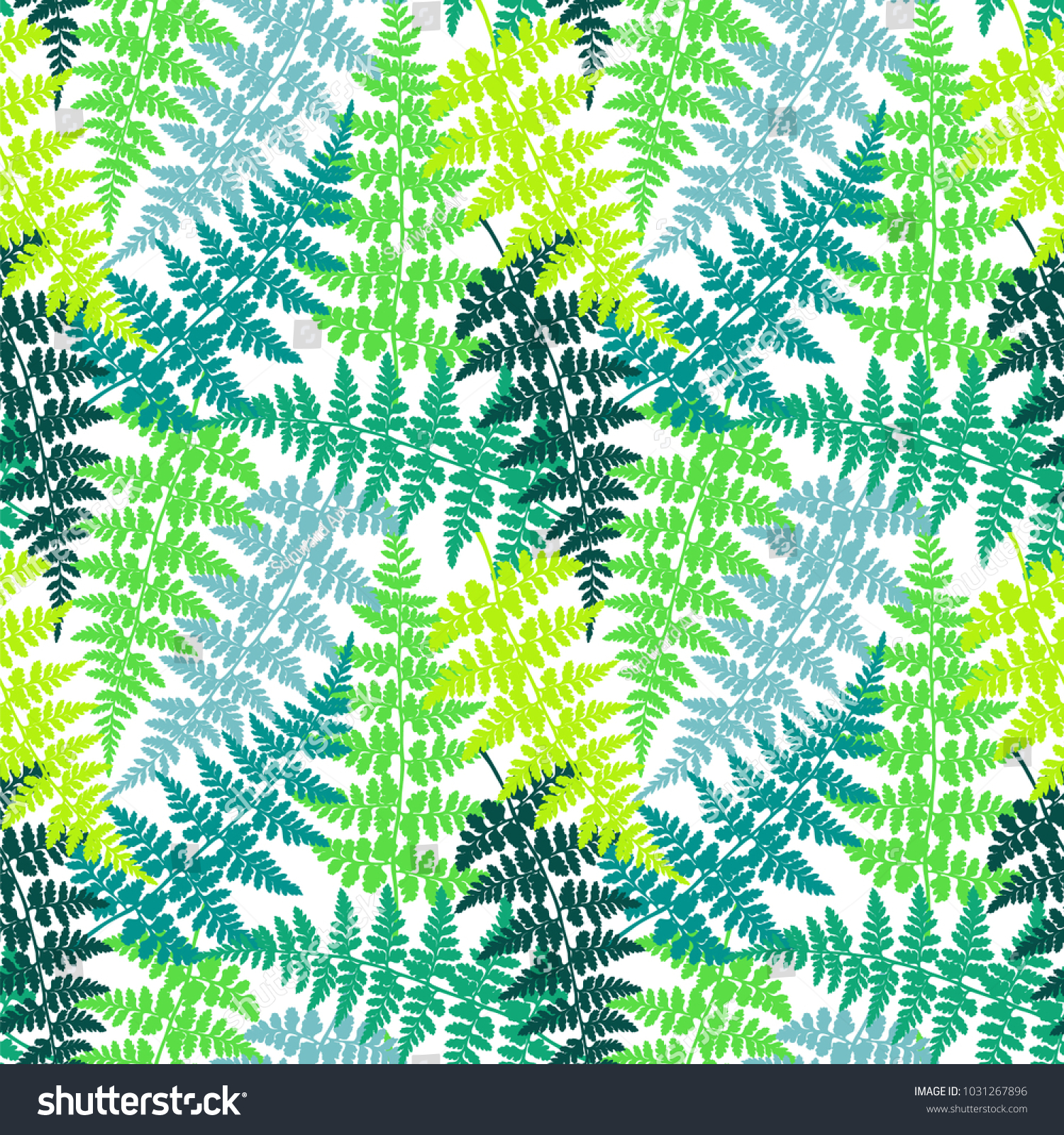 Fern Frond Herbs Tropical Forest Plant Stock Vector (Royalty Free ...