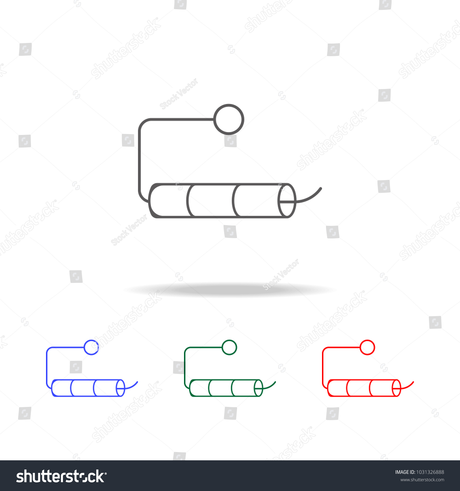 Empty Roll Toilet Paper Icon Elements Stock Vector (Royalty Free ...