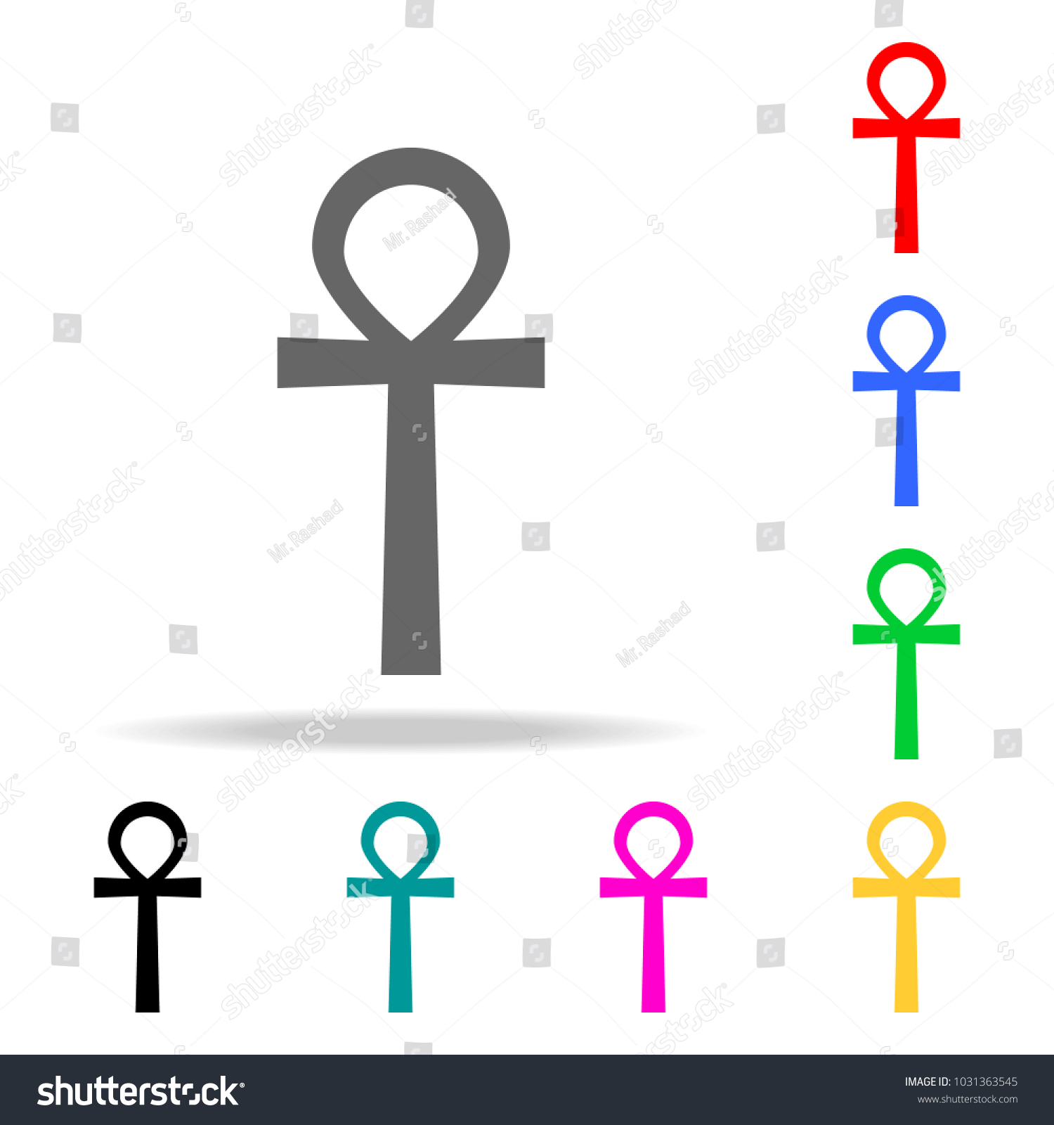 Ankh Symbol Egyptian Word Life Symbol Stock Vector Royalty Free