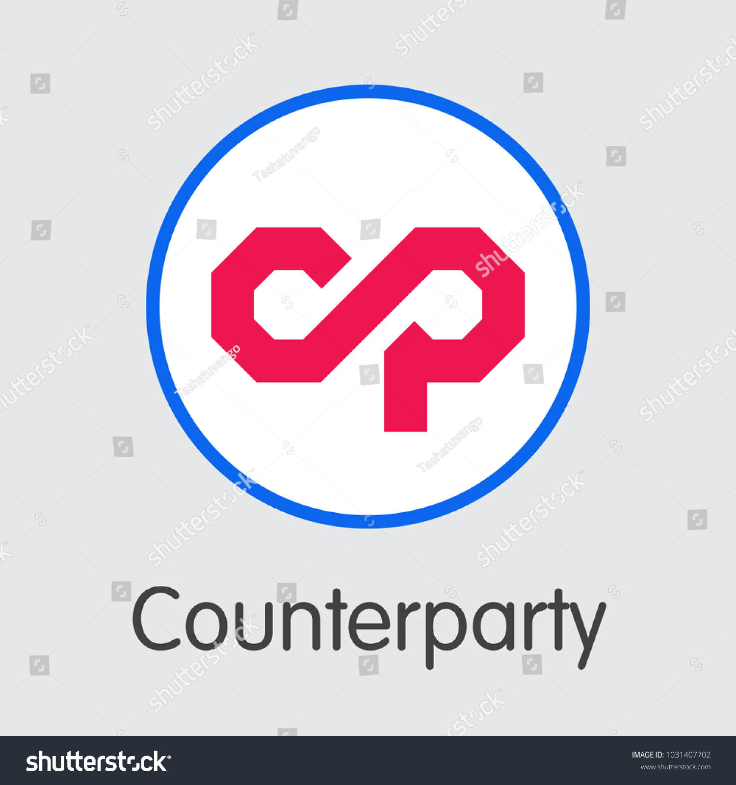 Counterparty vector element internet money virtual stock vector counterparty vector element for internet money virtual currency icon of xcp and graphic symbol for buycottarizona Gallery
