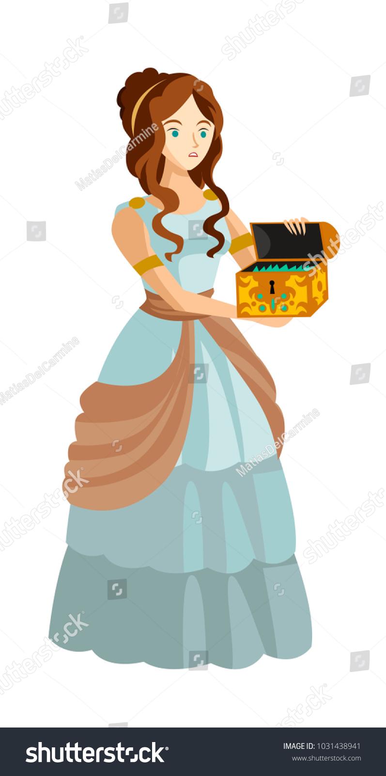 Mythology Pandora Opening Box Stock Vector Royalty Free 1031438941