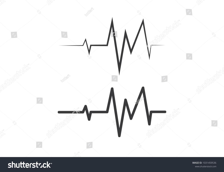 Heartbeat Line Art : Art design health medical heartbeat pulse stock vector royalty