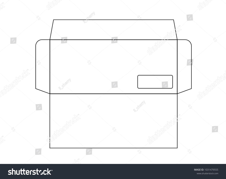 Blank Envelope DL Size Die Cut Stock Vector (Royalty Free ...