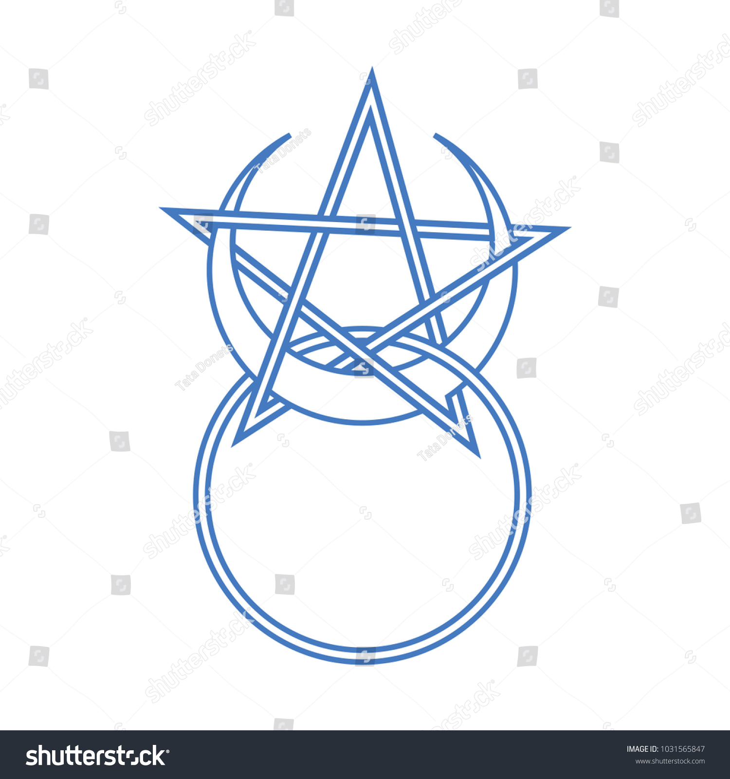 Vector symbol wiccan occult esoteric community stock vector vector symbol for wiccan and occult esoteric community horned god symbol with pentacle could biocorpaavc Choice Image