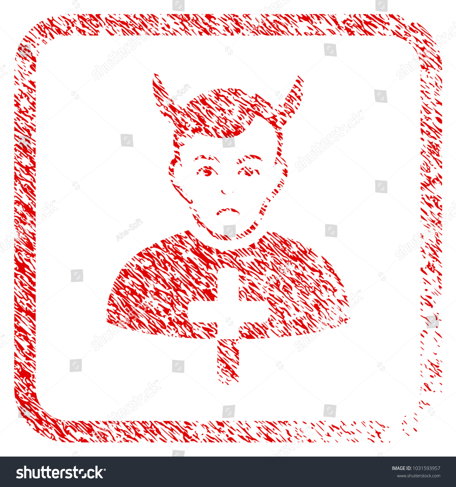 Satan priest rubber seal stamp imitation stock illustration satan priest rubber seal stamp imitation human face has grief mood scratched red sign biocorpaavc Choice Image
