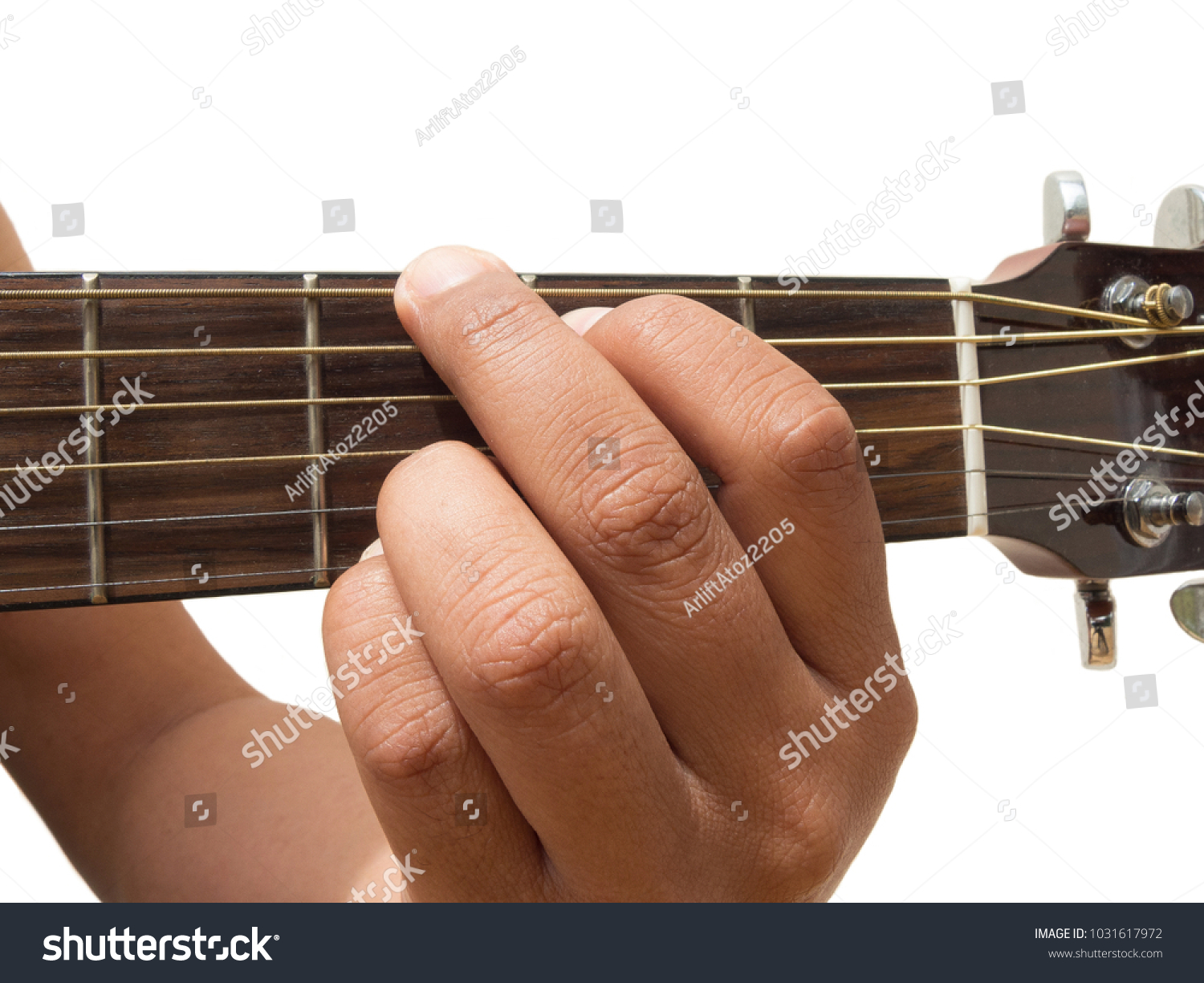 Left Hand Gesture Chord G Guitar Stock Photo Edit Now 1031617972