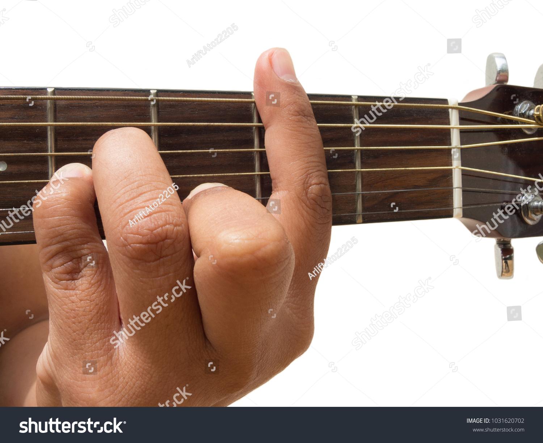 Left Hand Gesture Chord Bm Guitar Stock Photo Edit Now 1031620702