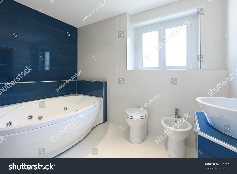 Bathroom With Hot Tub Interior interior bathroom modern house hot tub stock photo 103162517