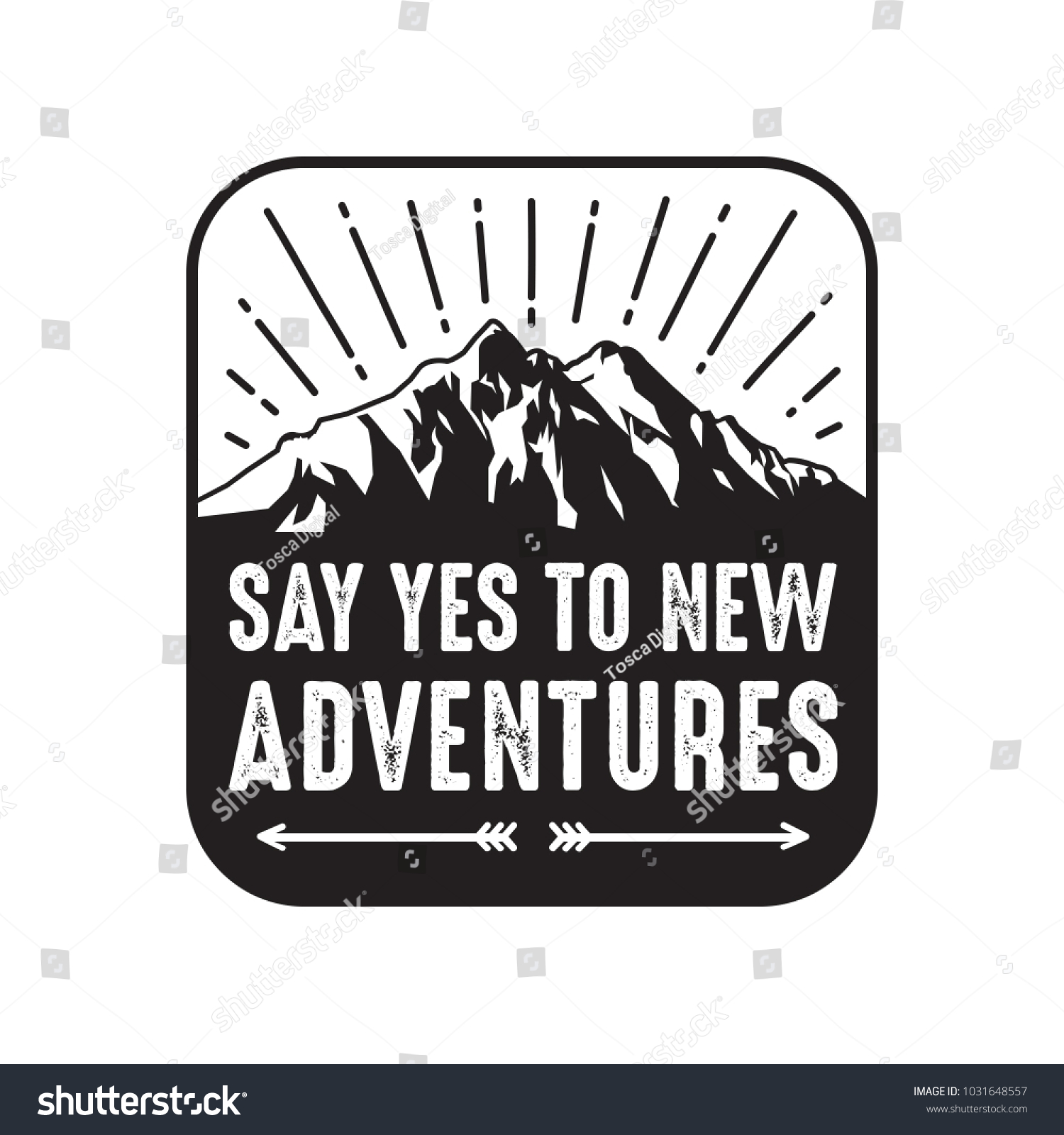 Adventure Sayings Quotes 100 Vector Best Stock Vector Royalty Free