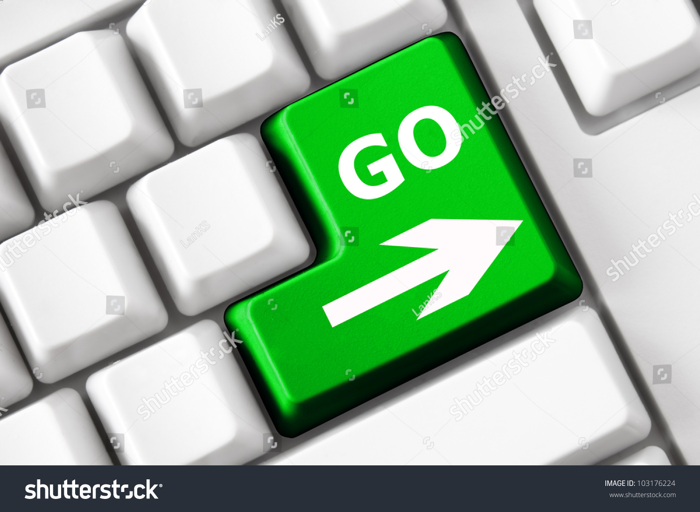 Go Text Arrow Next Symbol On Stock Photo Royalty Free 103176224