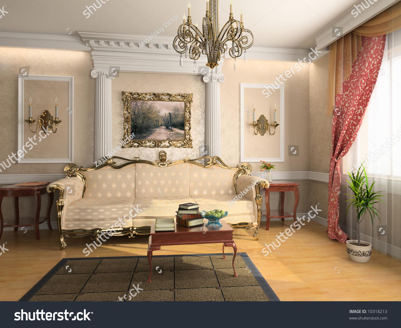 Amazing Modern Classic Interior Design (private Apartment 3d Rendering)