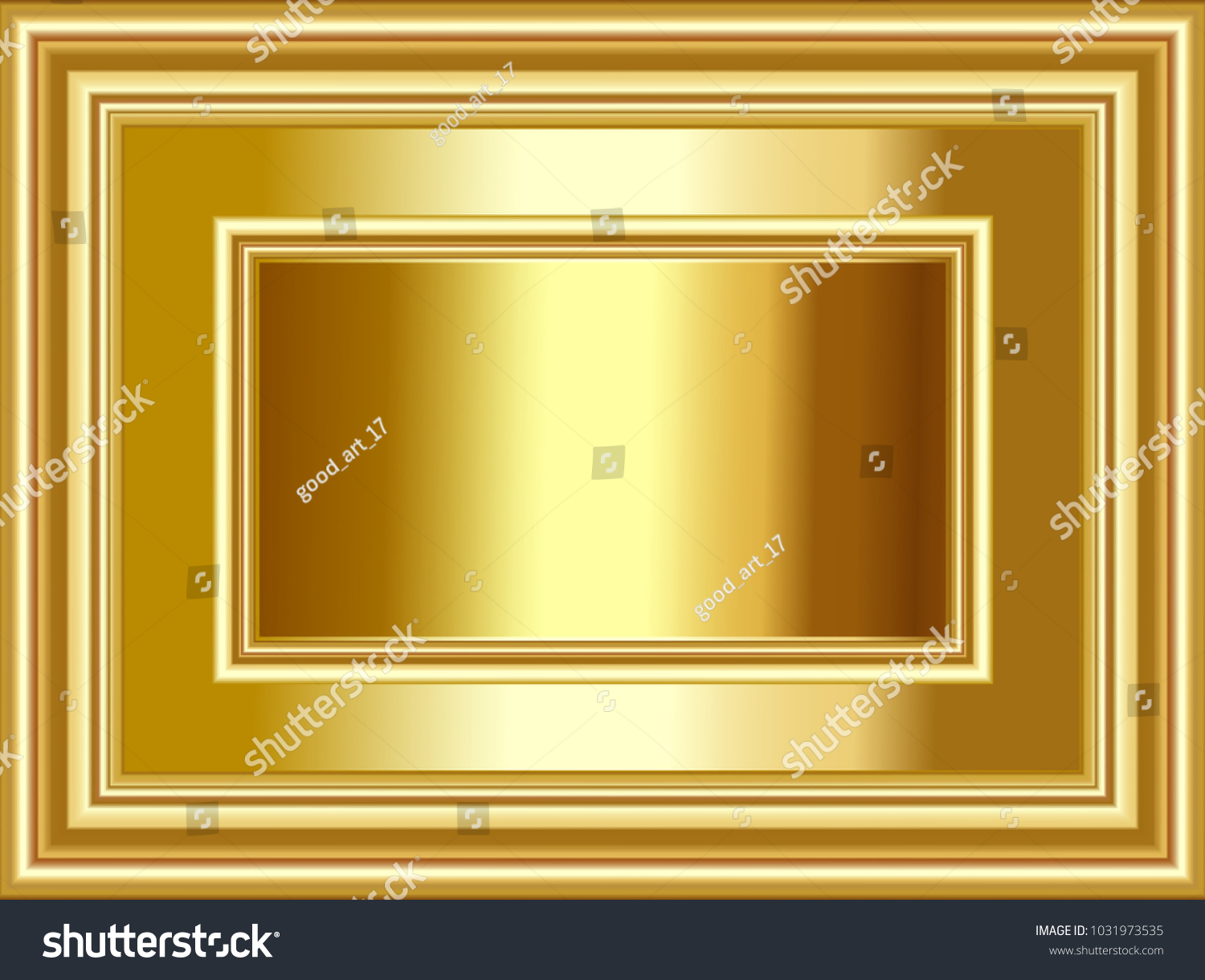 Luxury Gold Background Gold Frame Shining Stock Vector 1031973535 ...