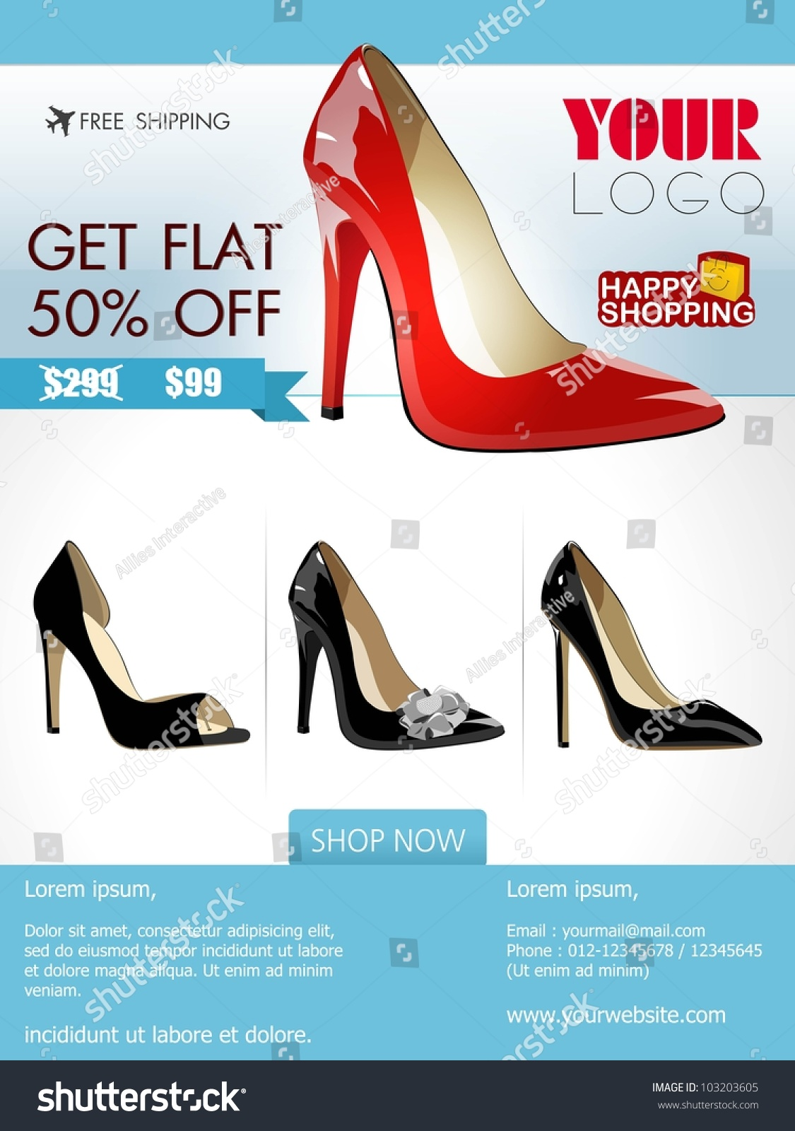 professional product flyer banner design ladies stock vector professional product flyer or banner design of ladies shoe or other product attractive discount offers