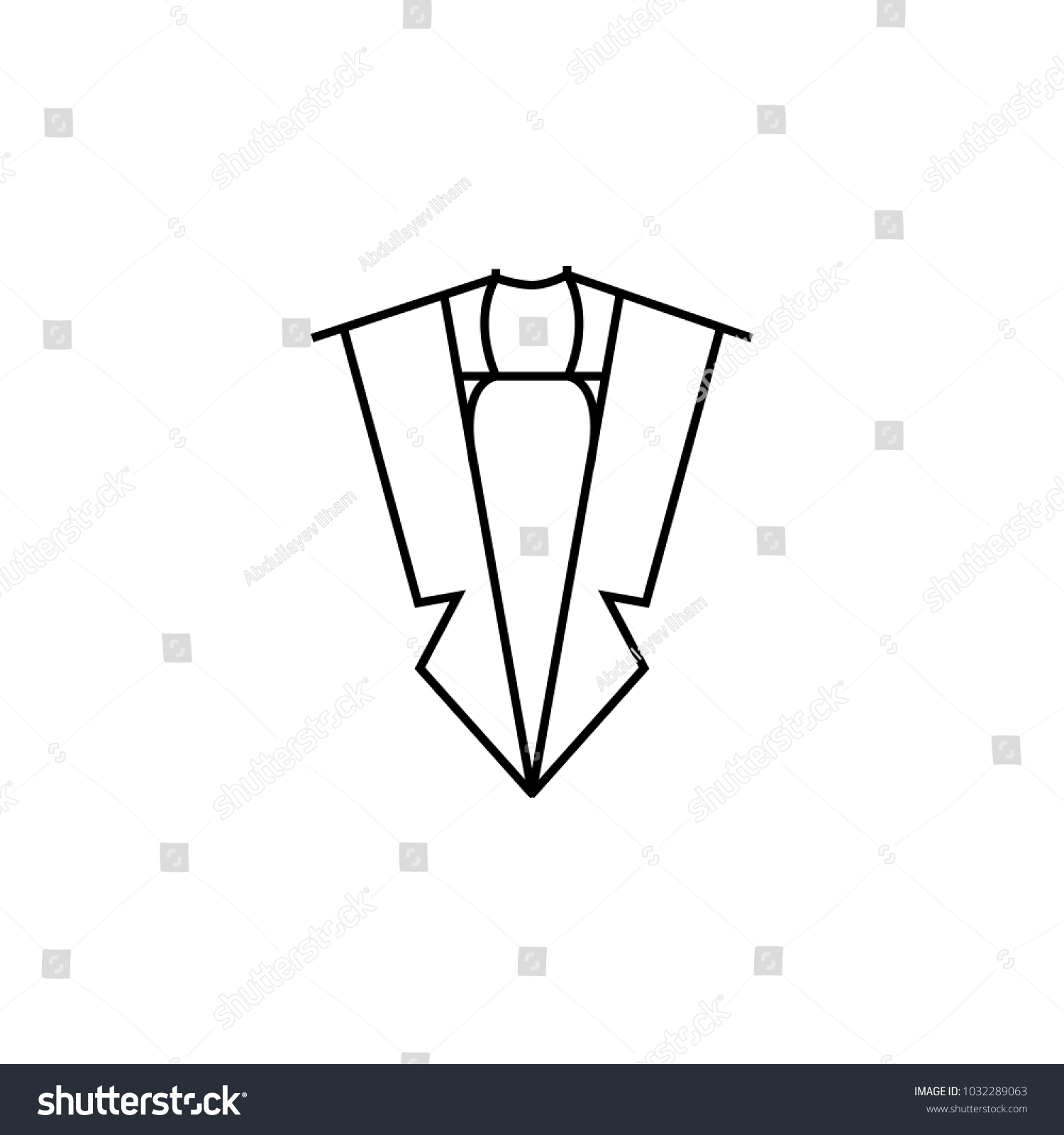Costume Top View Icon Element Clothes Stock Illustration 1032289063