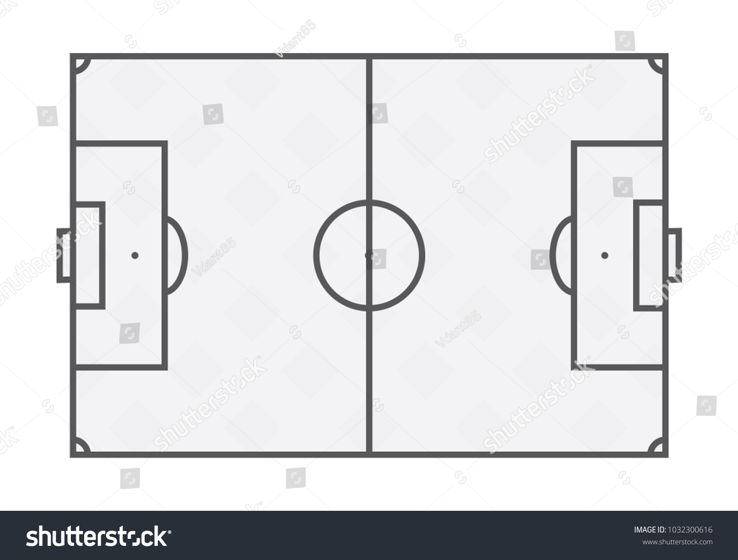 Flat soccer field line template football stock vector royalty free flat soccer field line template football grass stadium on white background maxwellsz