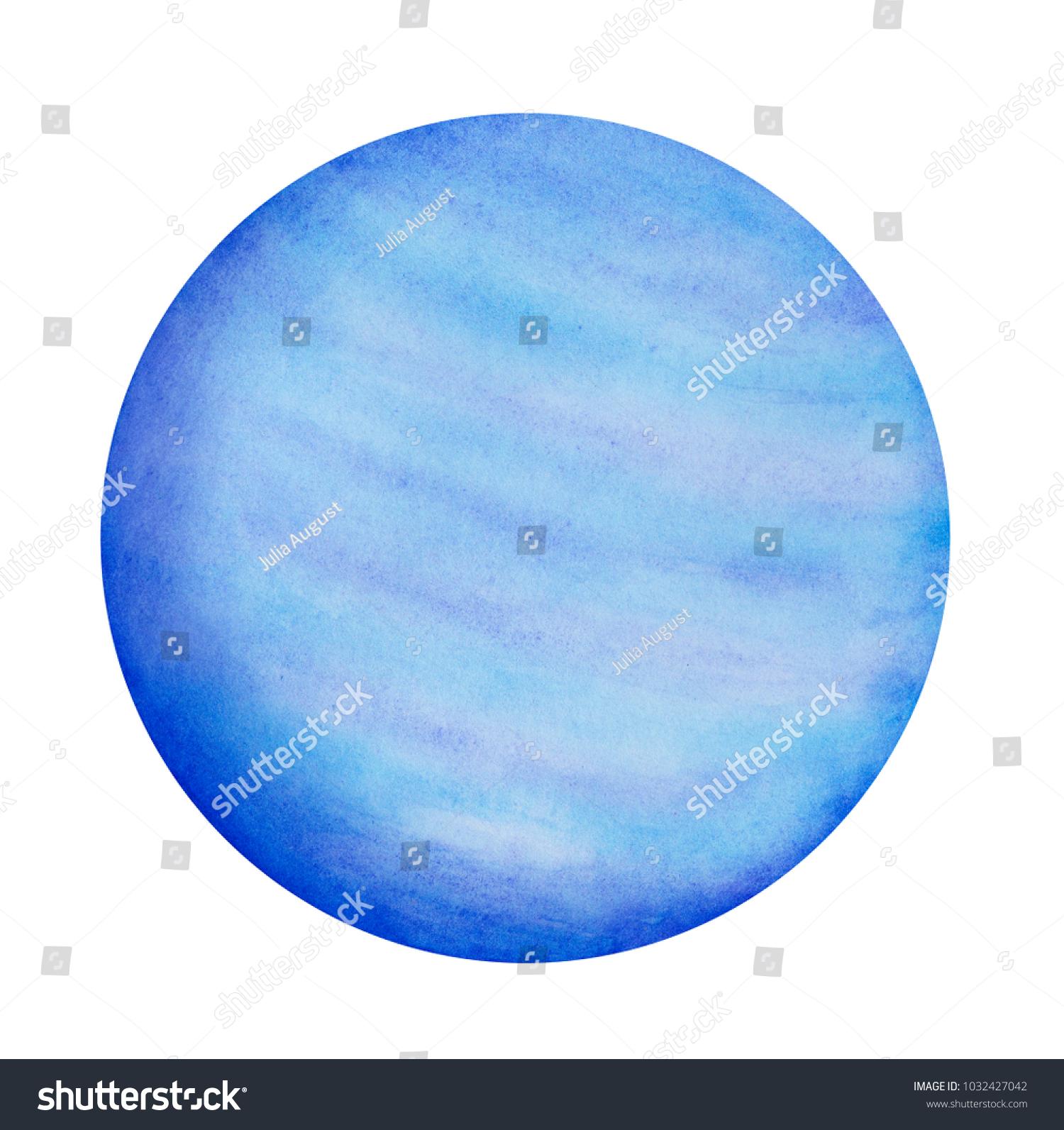 Neptune Planet Paint Symbol Dreams Subconscious Stock Illustration