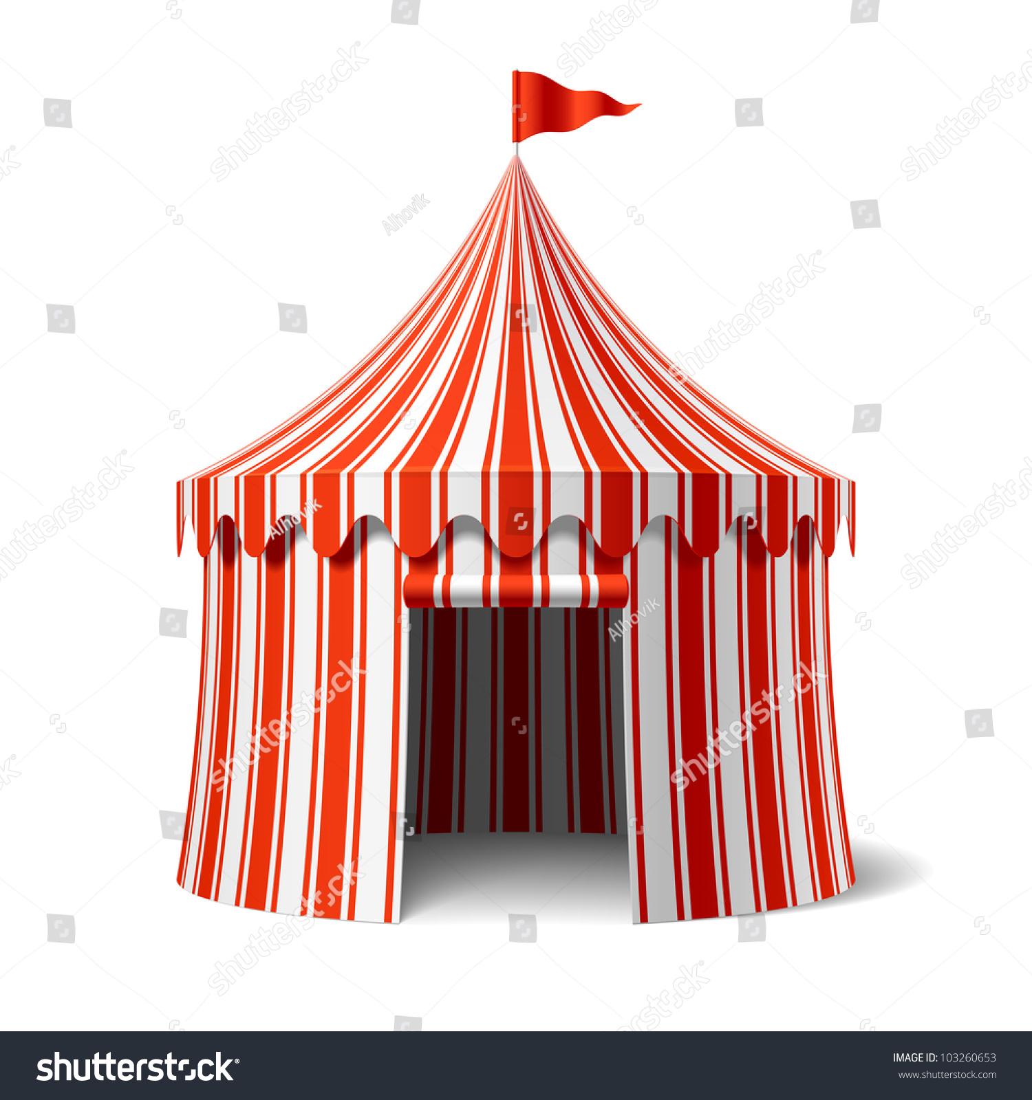 Circus Tent Vector Stock Vector 103260653 - Shutterstock