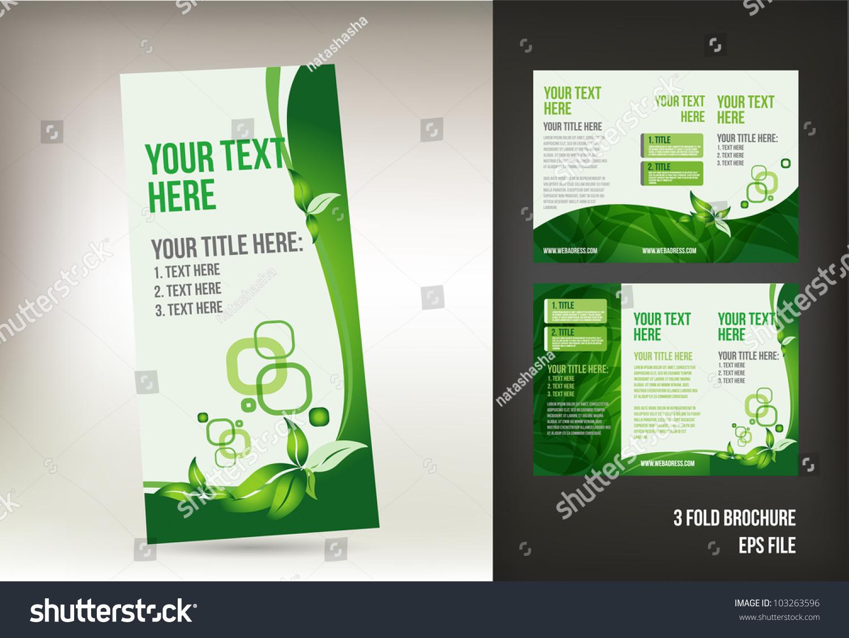 green brochure template - eco green brochure template stock vector 103263596
