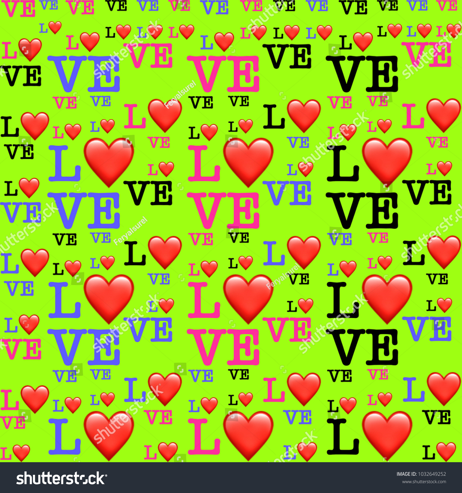 Vibrant colors love symbol hearts on stock illustration 1032649252 vibrant colors love symbol with hearts on yellow background image biocorpaavc Images