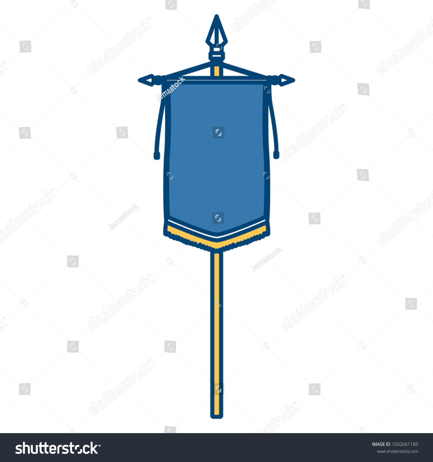 Medieval Flag Symbol Stock Photo (Photo, Vector, Illustration ...