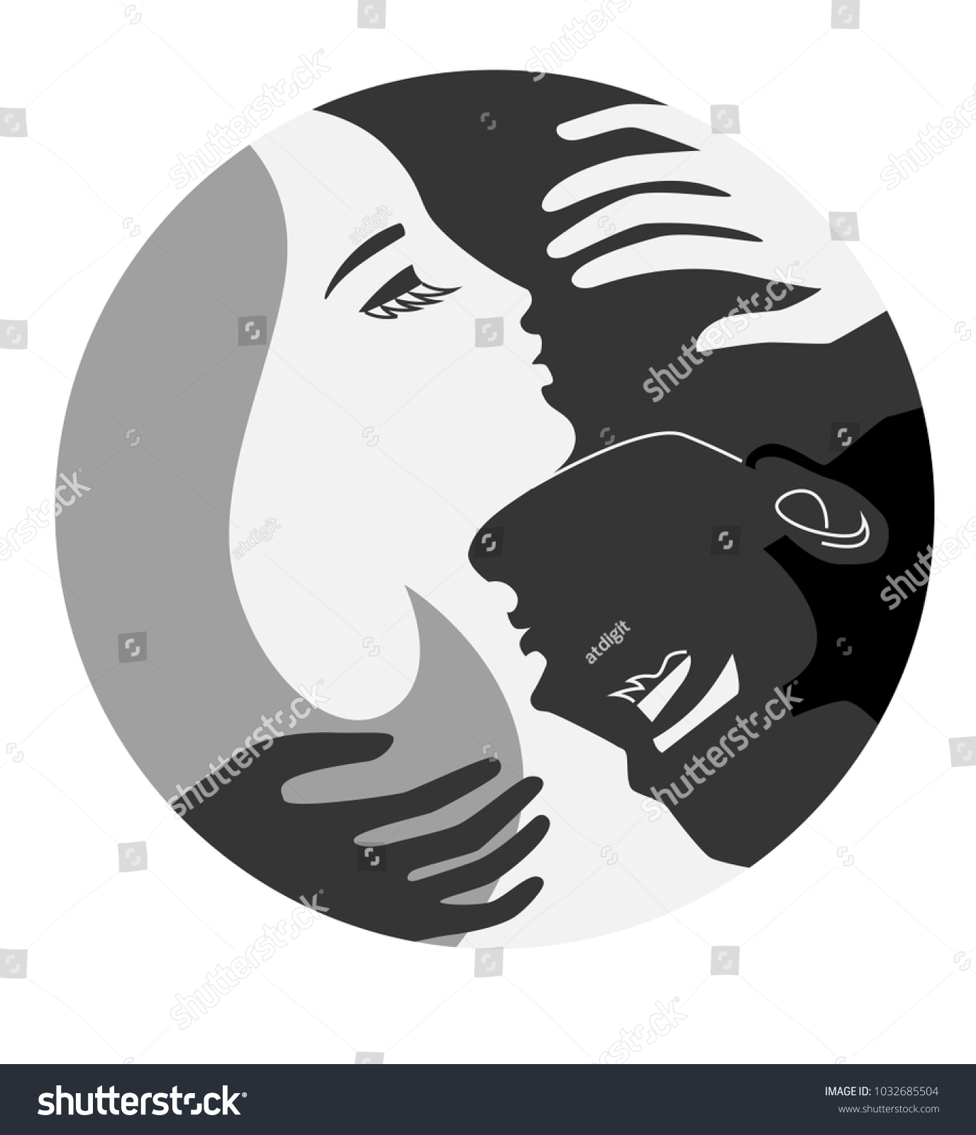 Couple unity concept yin yang man stock vector 1032685504 couple unity concept yin and yang man and woman love emblem style symbol biocorpaavc Gallery