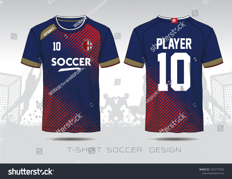 Soccer Jersey Template Mock Football Uniform Stock Vector Royalty