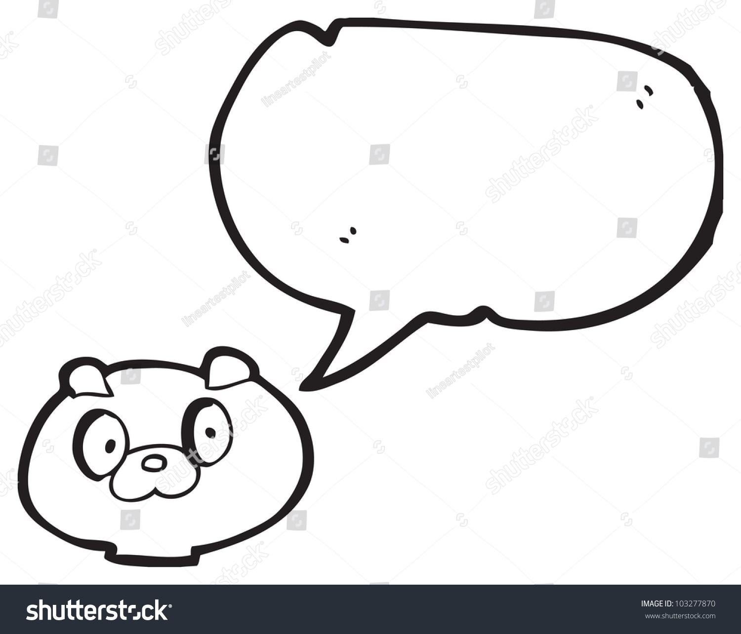 Cartoon dog stock photos images amp pictures shutterstock - Cartoon Puppy Dog Face With Speech Bubble