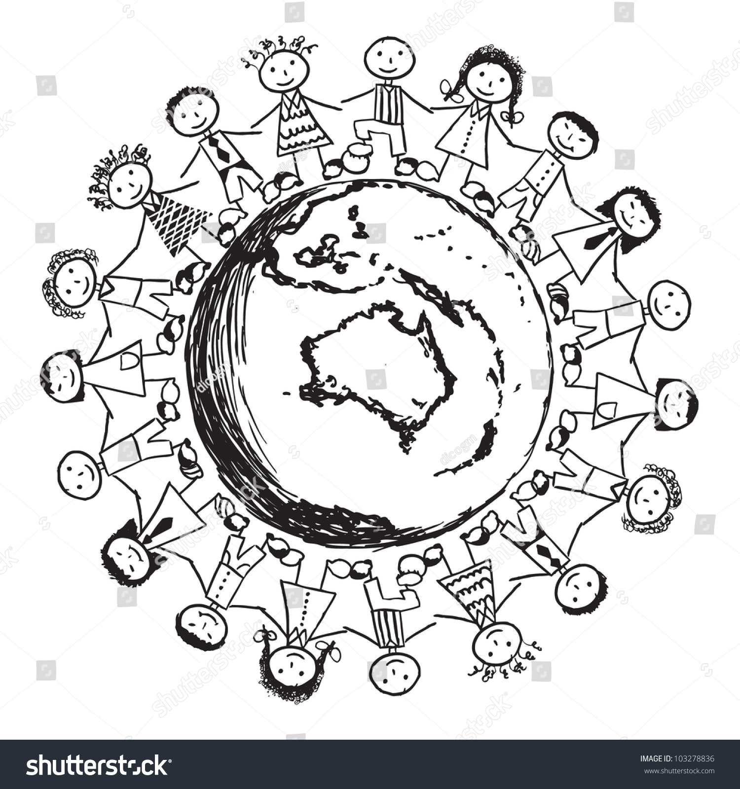 Children Around The World Coloring Page Amazing Chilen Of The
