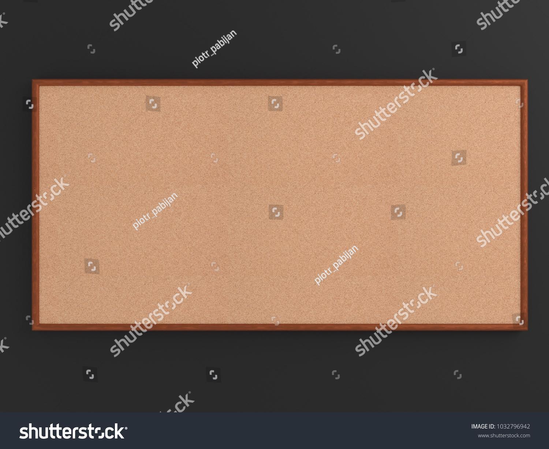 Empty Cork Board Noticeboard On Gray Stock Illustration 1032796942 ...