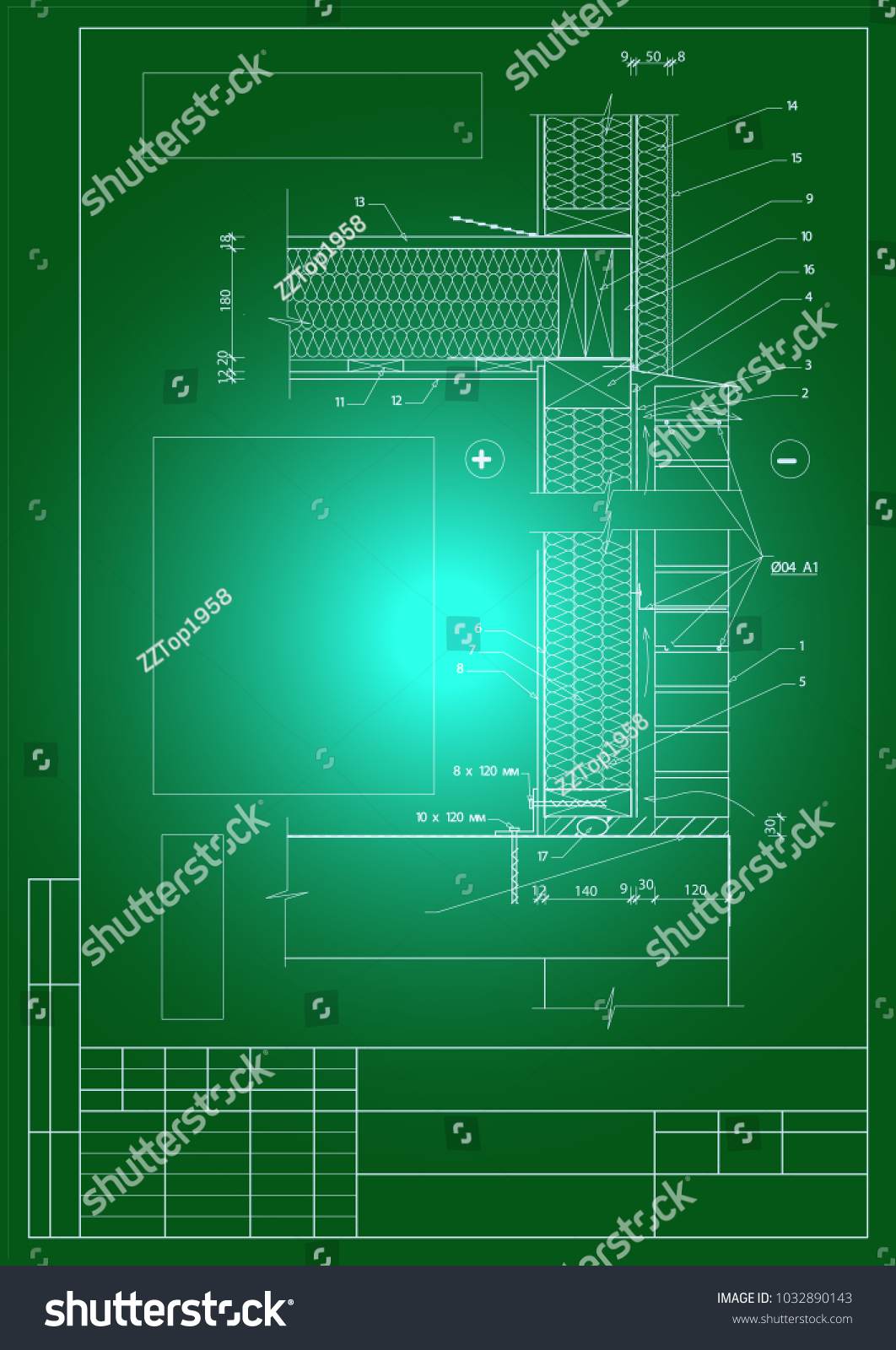 Architectural Building Structures Plans Sections Cad Stock Vector Wall Schematic Engineering Diagram And Parts Assemblies Walls