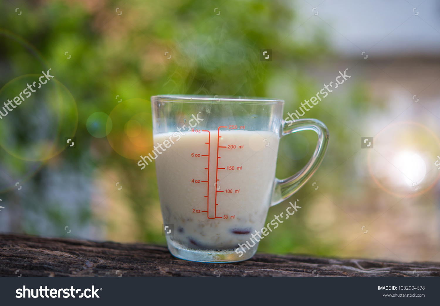 Cup Hot Soy Milk Seed Nuts Stock Photo (Edit Now) 1032904678