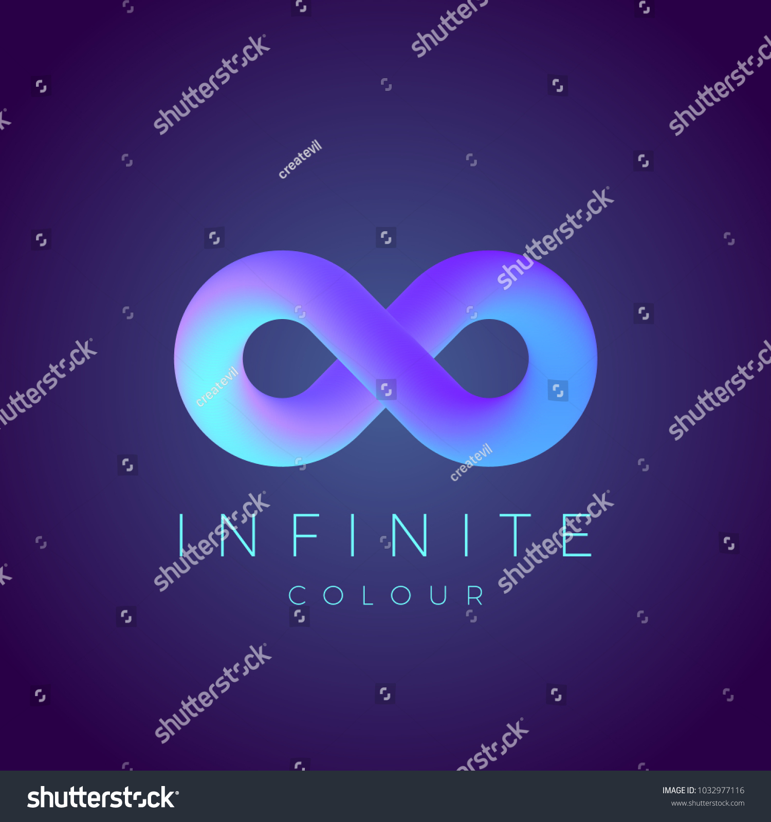 Abstract Infinity Symbol Modern Gradient Typography Stock
