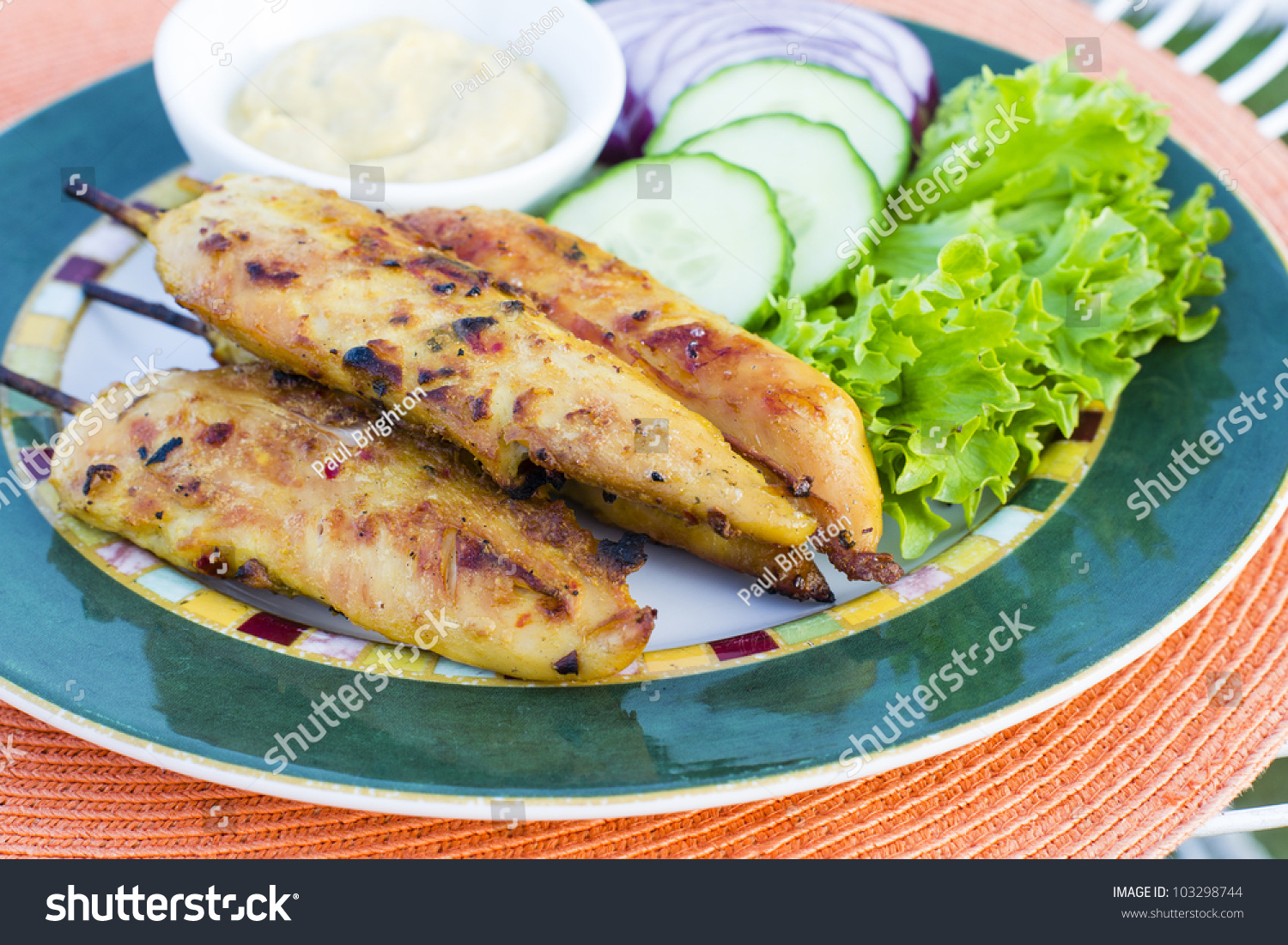 Chicken Satay - Chargrilled Spicy Mini Chicken Fillet On ...
