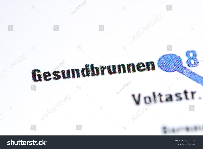 Gesundbrunnen Station Berlin Metro Map Stock Photo Edit Now