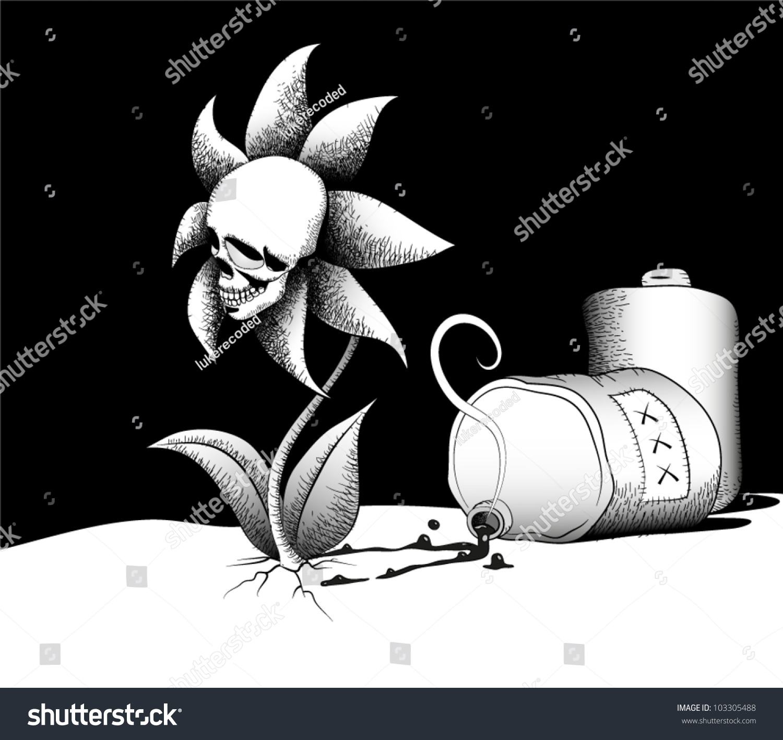 Drawing Flowerskull Th...