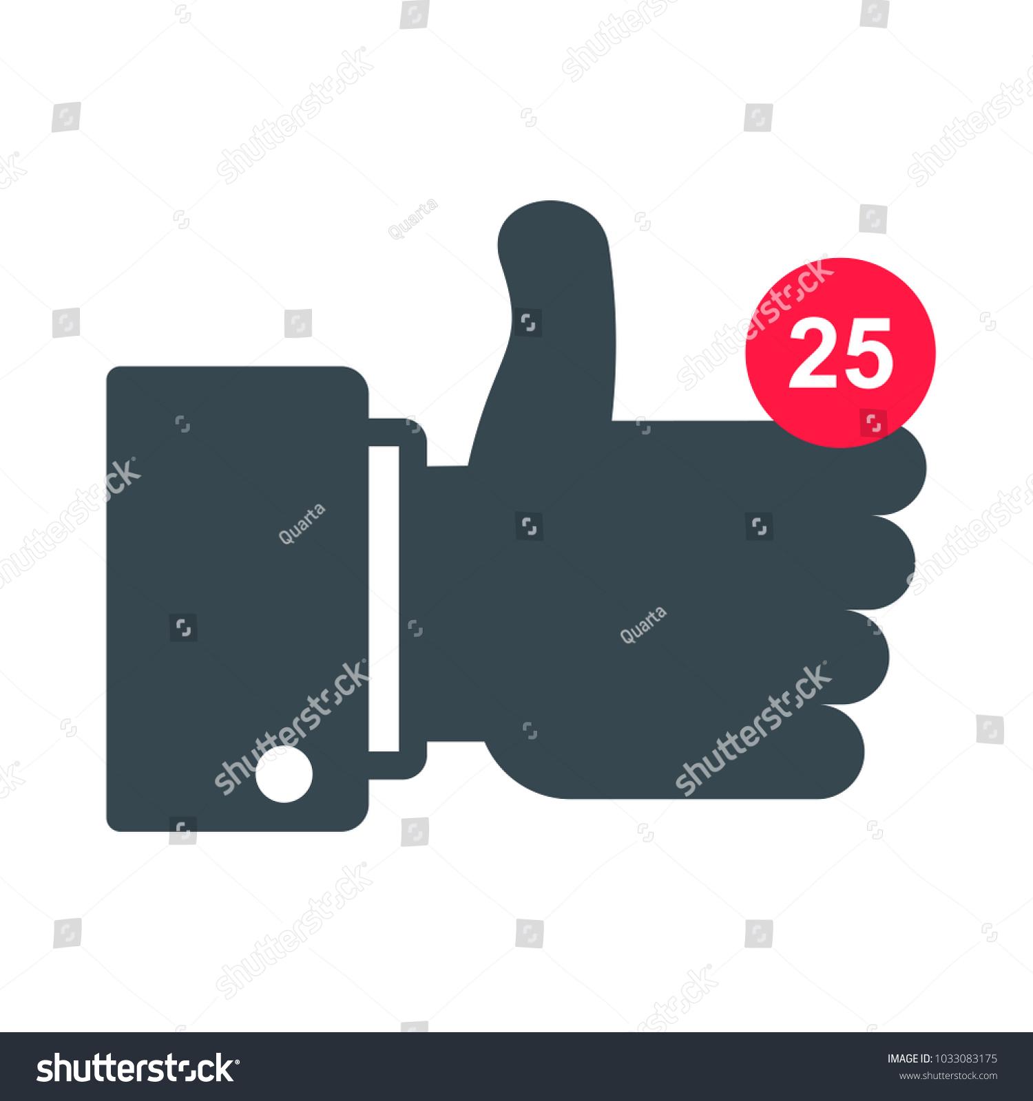 Like Sign Conceptual Symbol Approval Social Stock Illustration