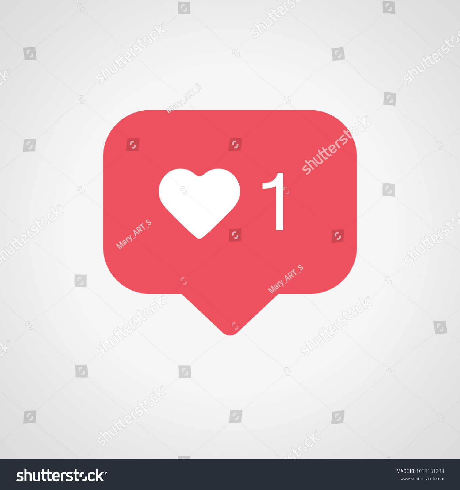 New Counter Notification Icon Instagram Follower Stock Vector