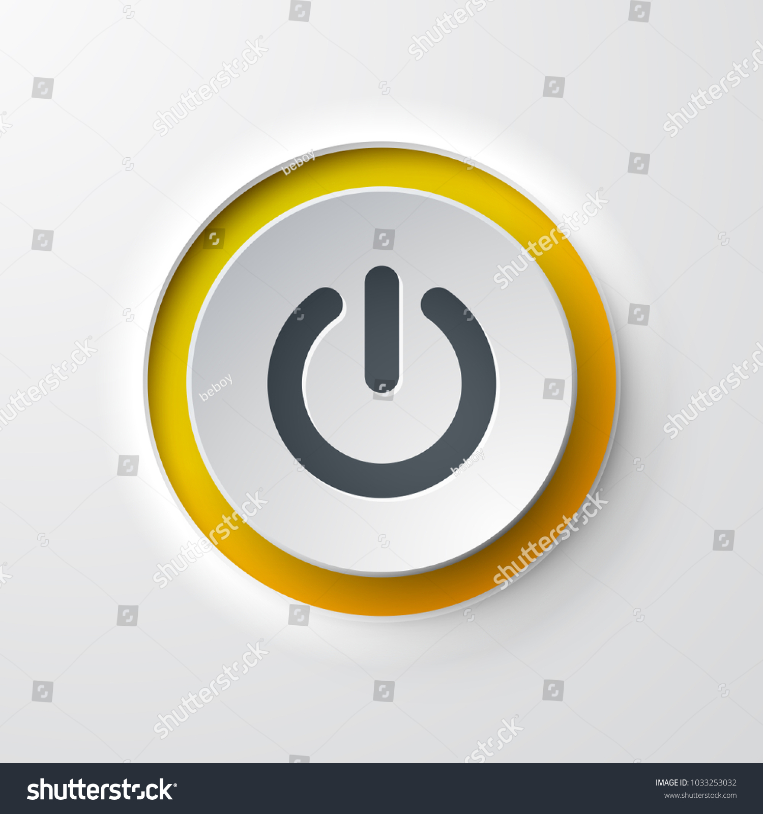 web icon push-button power #1033253032