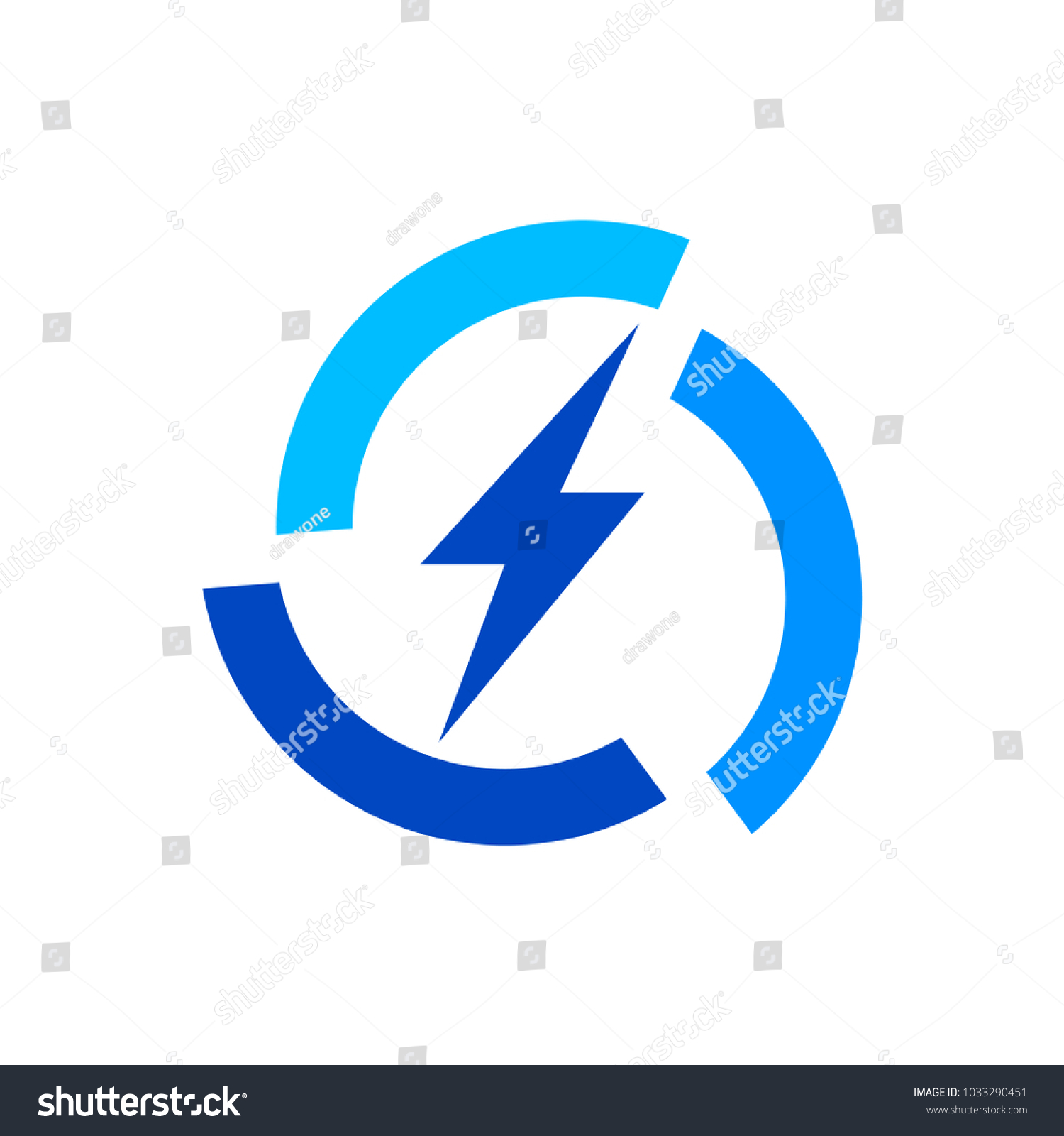 Electric Current Logo Template Stock Vector 1033290451 Shutterstock