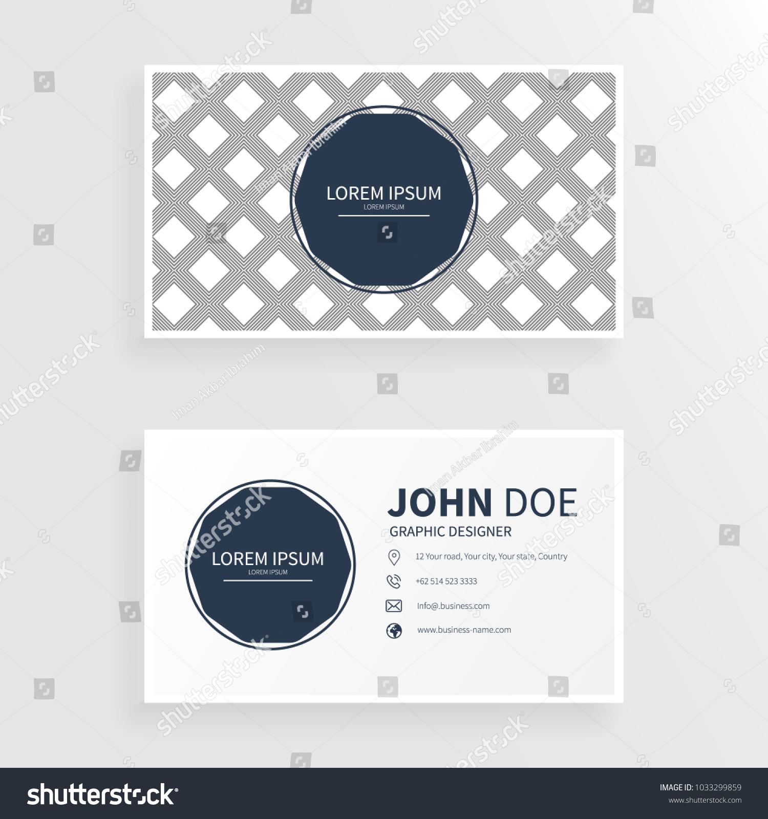 Business Card Square Pattern Stock Vector 1033299859 - Shutterstock