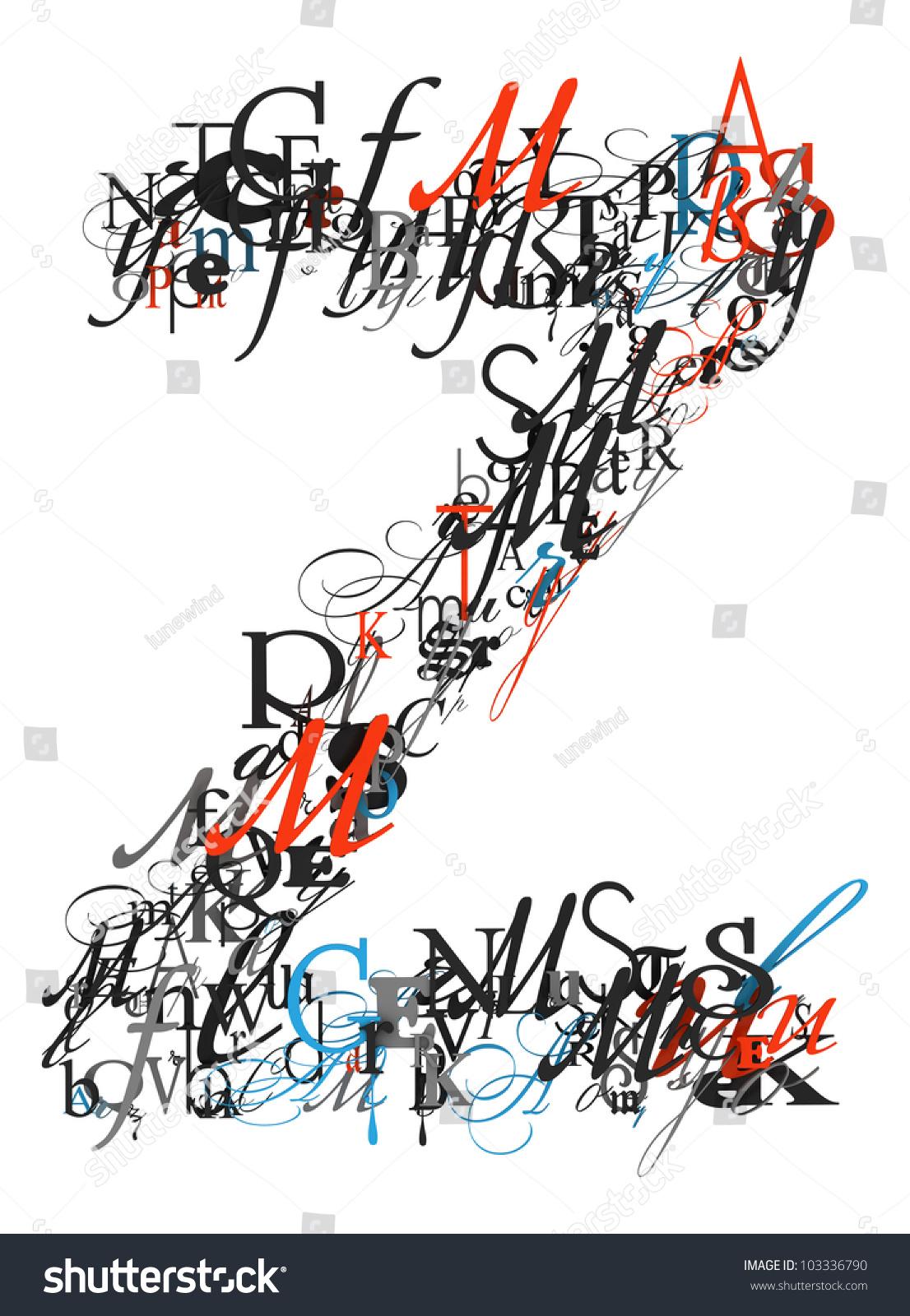 Royalty Free Stock Illustration Of Letter Z Alphabet Different Font