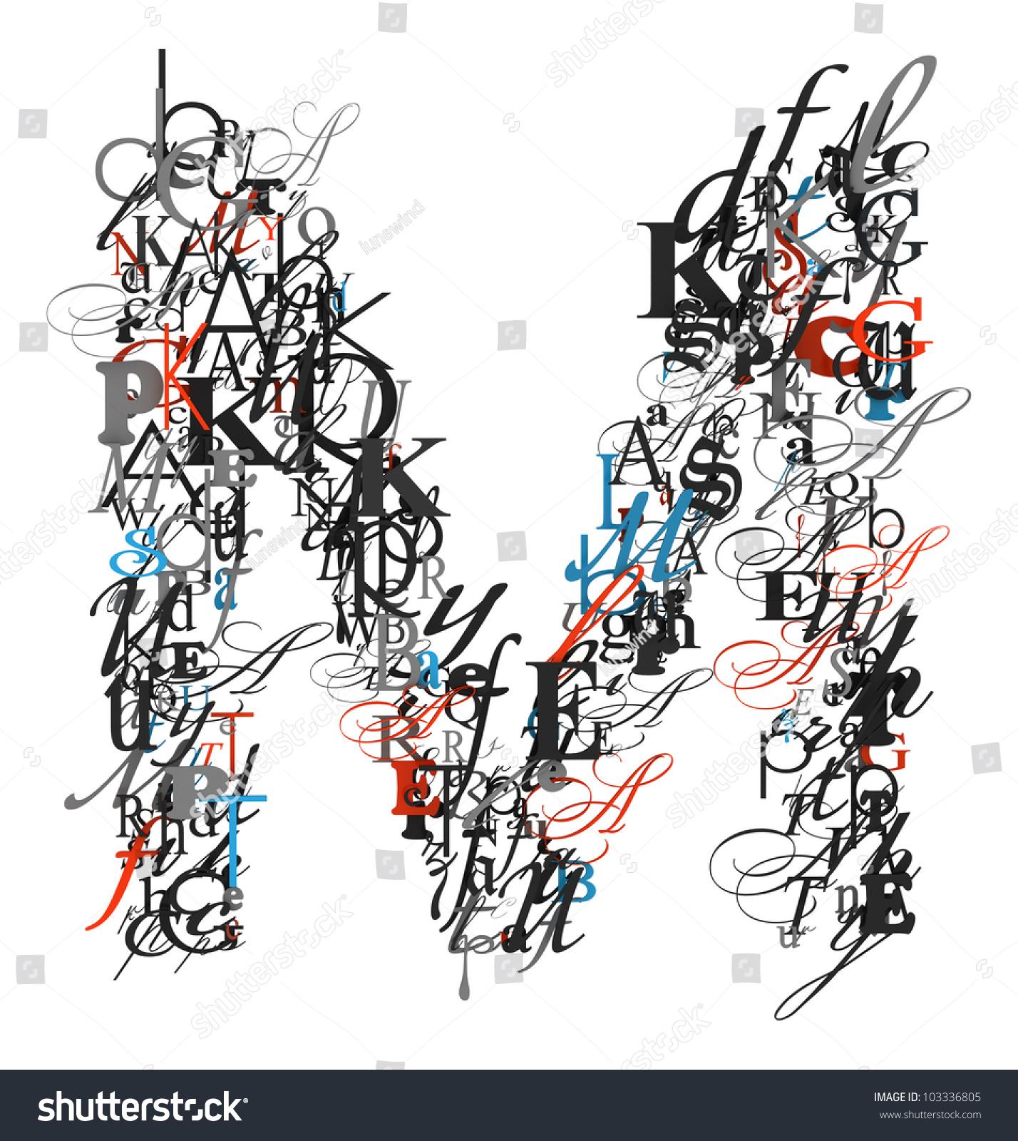 Royalty Free Stock Illustration Of Letter M Alphabet Different Font