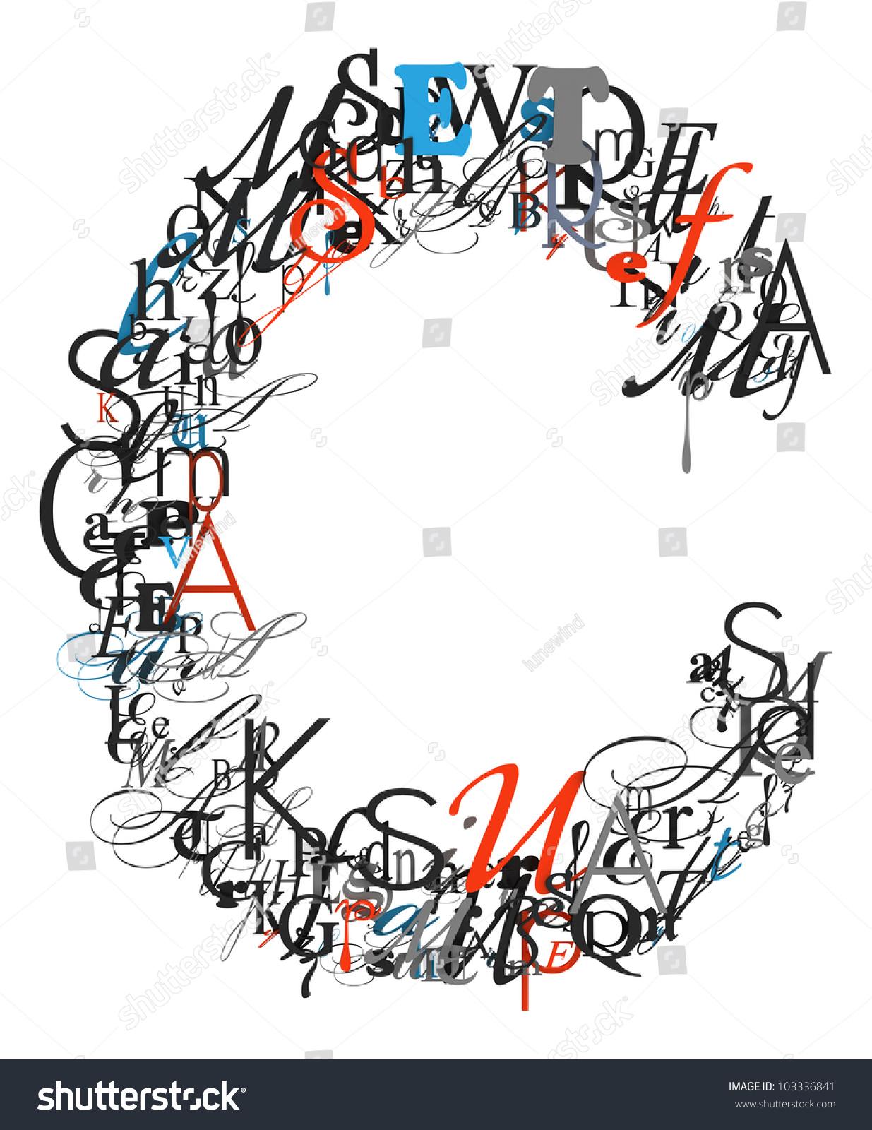 Letter C Alphabet Different Font Letters Stock Illustration