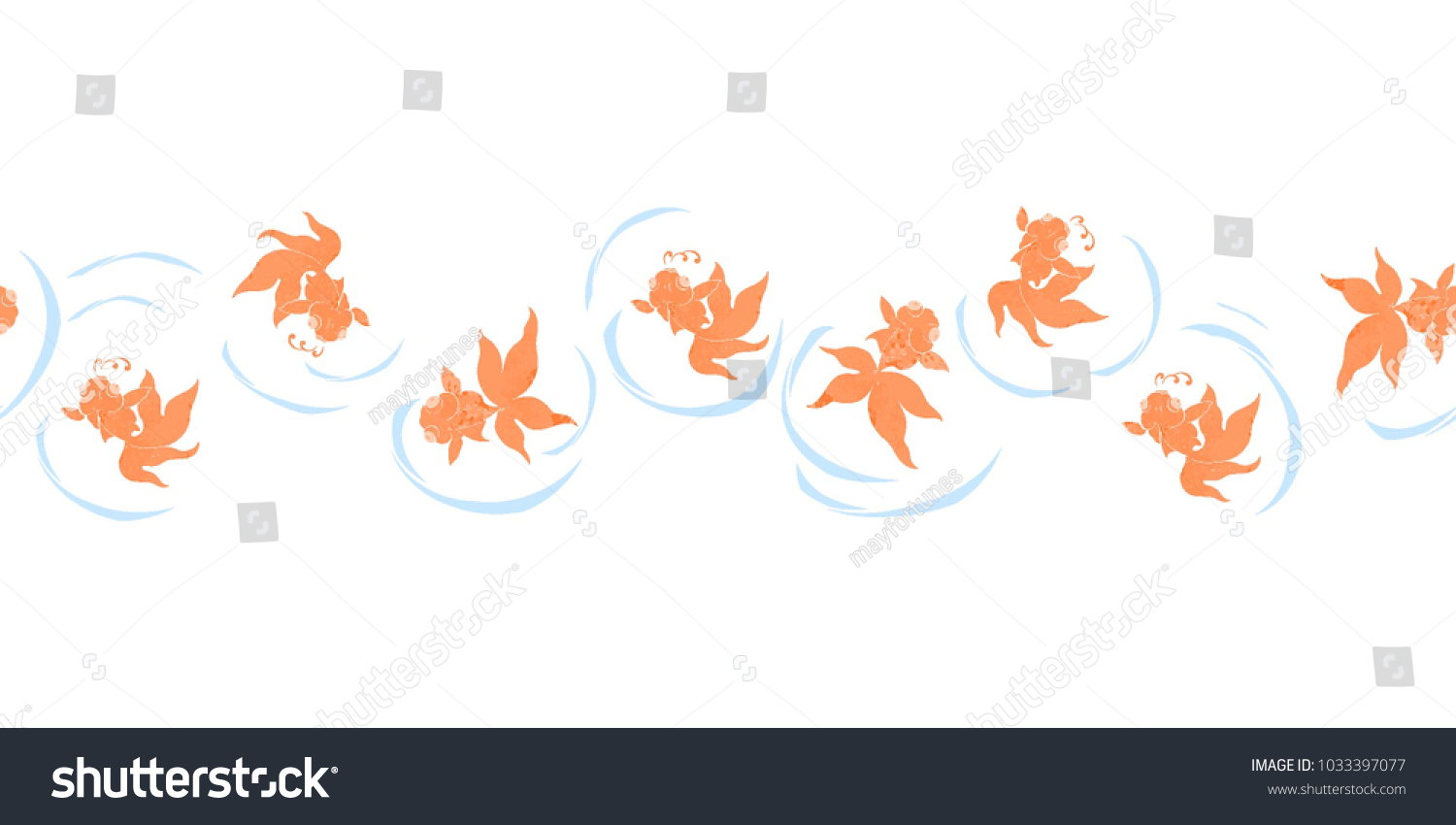 Goldfish popular symbols chinese art their stock vector 1033397077 goldfish are popular symbols in chinese art as their name is a homophone for the two buycottarizona Images