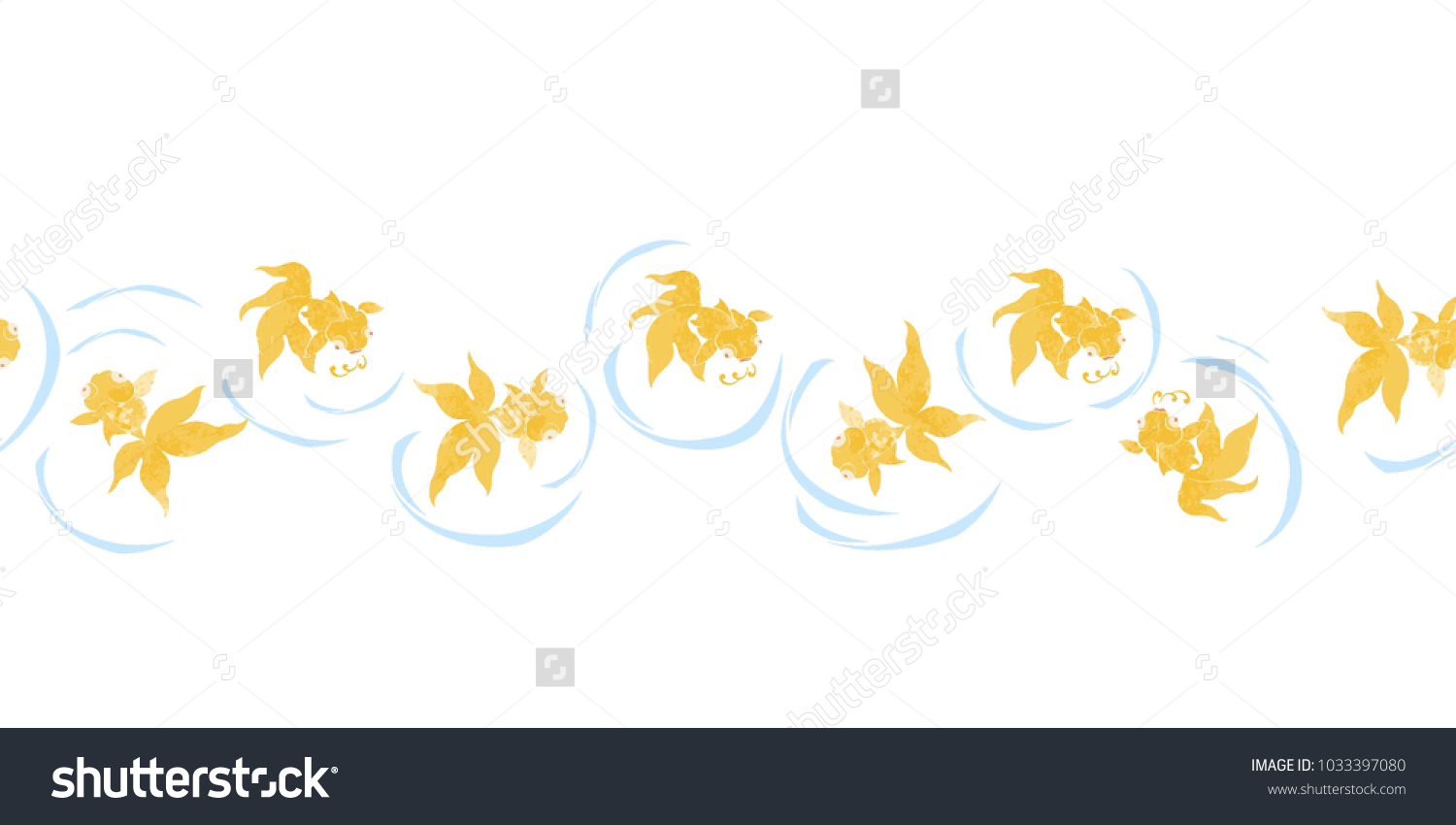 Goldfish popular symbols chinese art their stock vector 1033397080 goldfish are popular symbols in chinese art as their name is a homophone for the two buycottarizona Images