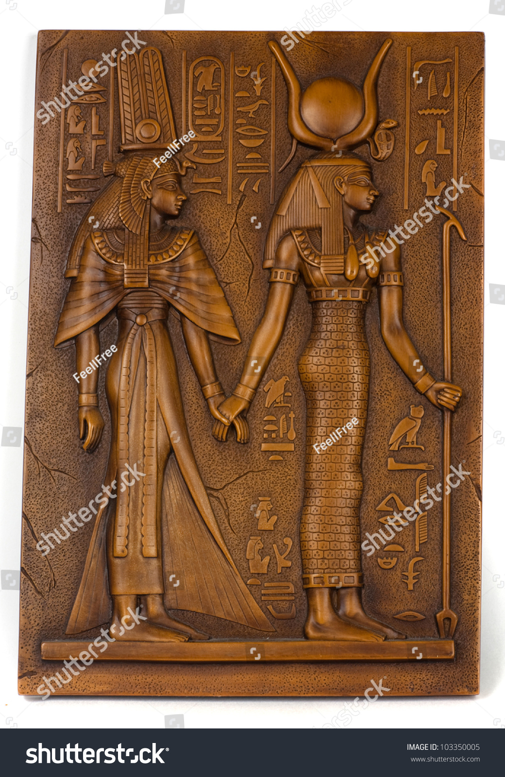 Ancient stone carved egyptian hieroglyphics stock photo