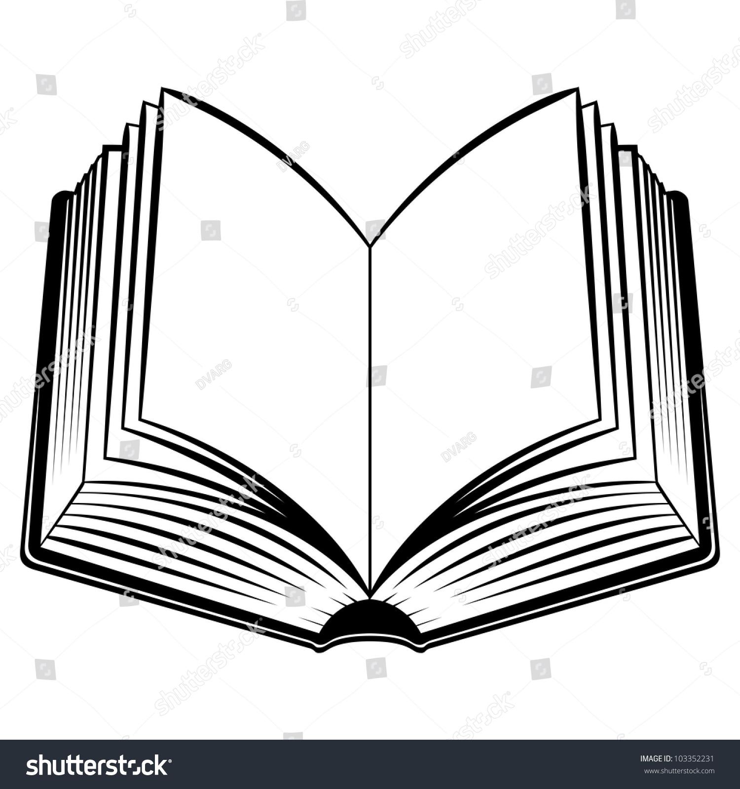 open book black white illustration design stock vector 103352231 rh shutterstock com black and white book clipart free clipart images black and white book
