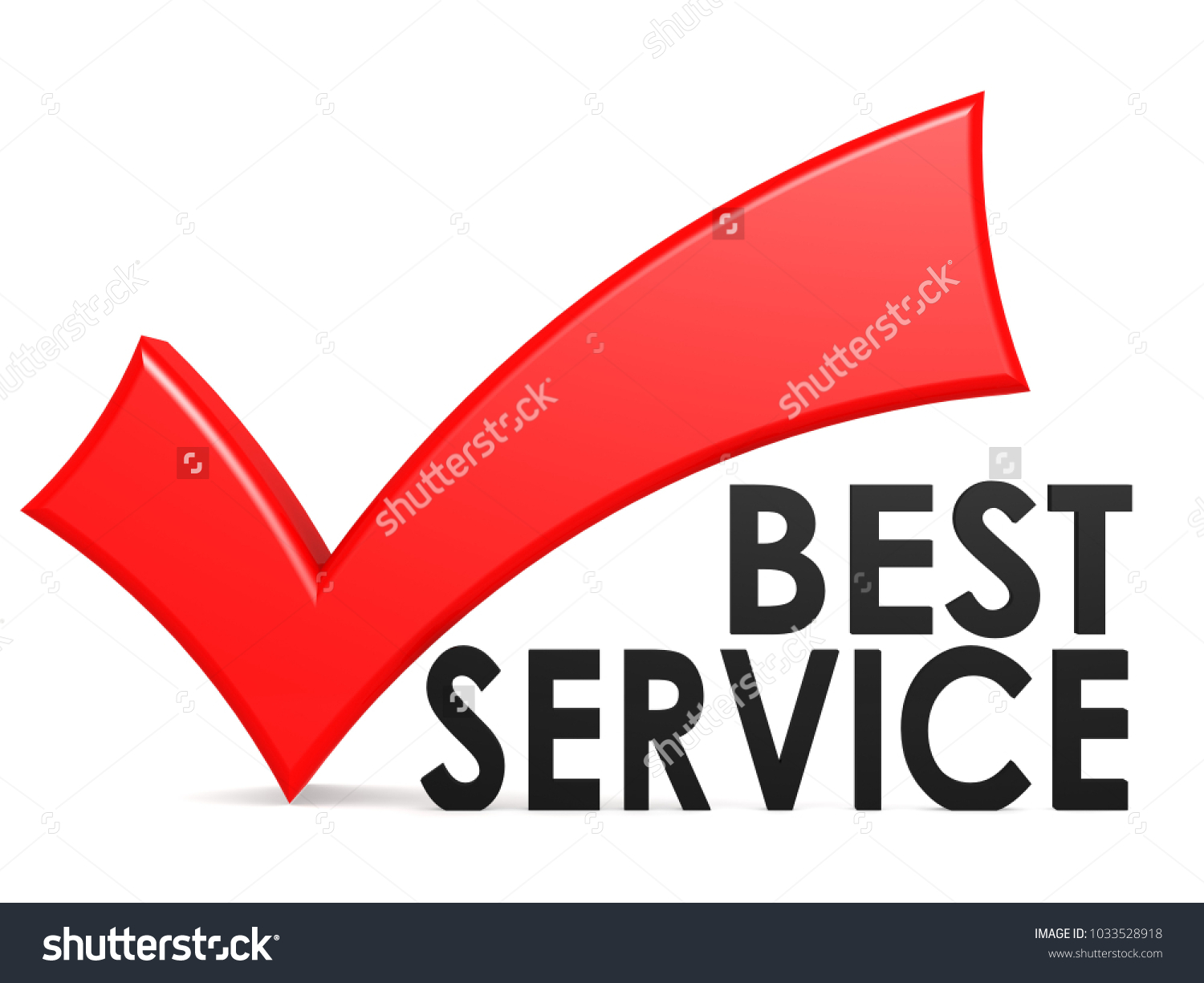 Best service word red check mark stock illustration 1033528918 best service word with red check mark 3d rendering biocorpaavc Images